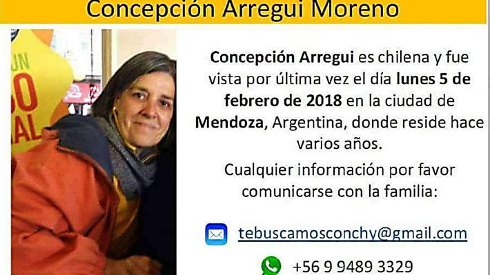 Detienen a hombre por la desaparición de la prima de la actriz Carolina Arregui en Argentina
