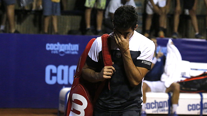 """¡""""Por qué me pasa esto ahora""""!: El desesperado grito de Garín que terminó con su eliminación del Challenger de Santiago"""