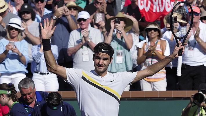 Roger Federer estuvo imparable y en menos de una hora selló su paso a los octavos de Indian Wells