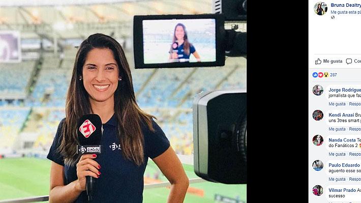"""Periodista fue acosada en previa a partido entre el Vasco de Gama y la """"U"""": """"Soy mujer y merezco ser respetada"""""""