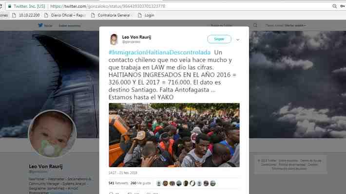 Noticias falsas sobre migrantes en Chile fueron compartidas más de un millón de veces