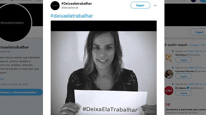 Periodistas deportivas brasileñas lanzan campaña para pedir respeto por su labor