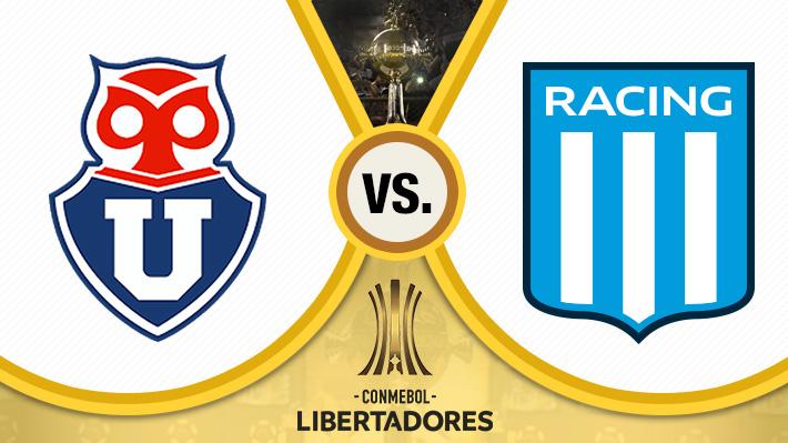 Repasa el intenso empate que animaron Universidad de Chile y Racing en la Libertadores