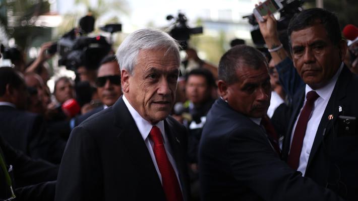 """Presidente Piñera al llegar a la Cumbre de las Américas: """"En Venezuela no hay democracia"""""""