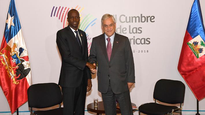 Sebastián Piñera aborda ley de migración y establecimiento de visas con Presidente de Haití
