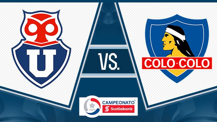 ¡En vivo! Pinilla y Paredes anotaron y la U con Colo Colo empatan en el Superclásico