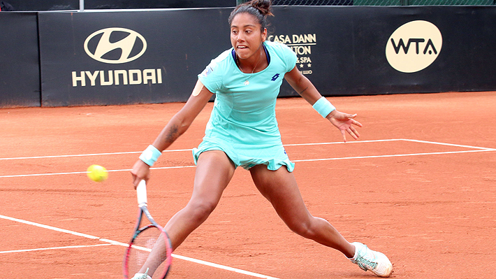 Daniela Seguel no pudo seguir haciendo historia y sufrió una dura derrota en el WTA de Bogotá