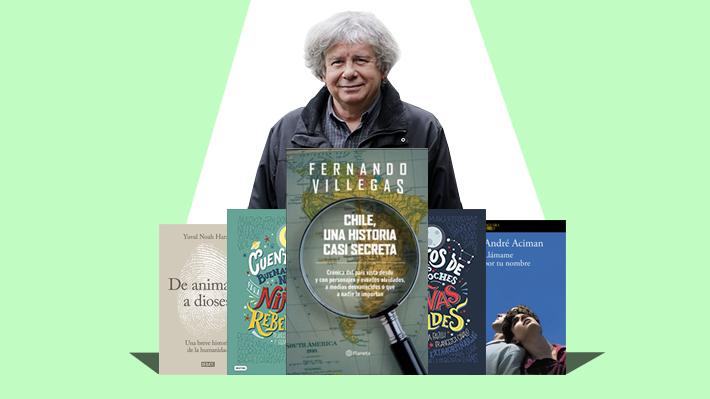 """Ranking de libros: Fernando Villegas ingresa entre los más vendidos con """"Chile, una historia casi secreta"""""""