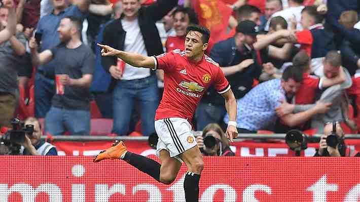 Anotó otra vez en Wembley: Mira el gol de cabeza que marcó Alexis Sánchez al Tottenham