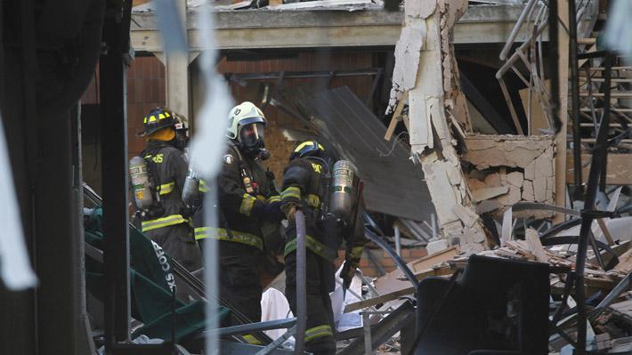 Fotos revelan el estado en que quedó el Sanatorio Alemán de Concepción tras fatal explosión