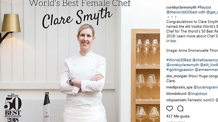 Trabajó más de 13 años en restaurante Gordon Ramsay: Británica es elegida como la Mejor Chef de 2018