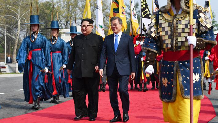 Galería: Las imágenes que marcaron el histórico cara a cara entre Corea del Norte y del Sur