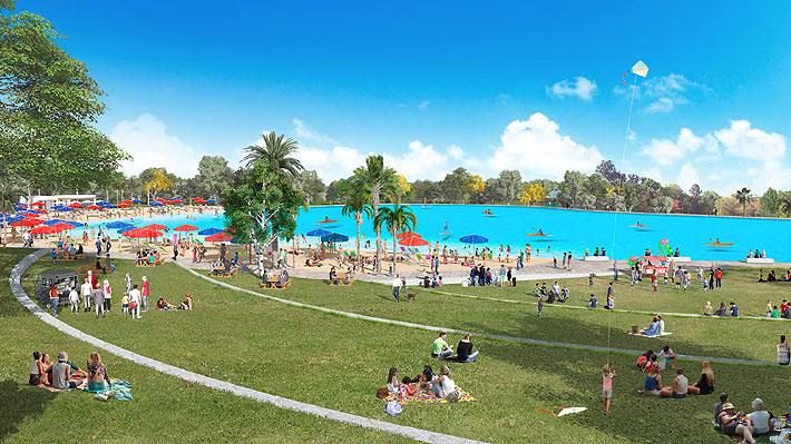 Municipios proponen plan para renovar el Parque Padre Hurtado con laguna cristalina, playas y humedales