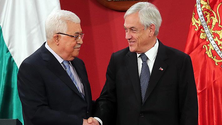 """Abbas afirma que reunión con Piñera sirvió para mostrarle una """"fotografía"""" de lo que ocurre en Medio Oriente"""