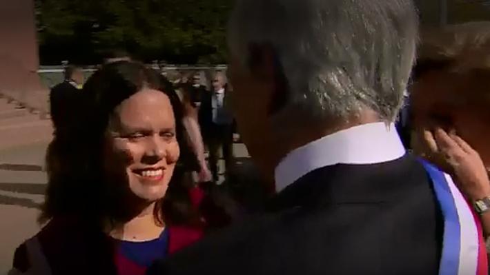 """Piñera a diputada Maya Fernández: """"Tan linda que se ve y tan dura que es"""""""