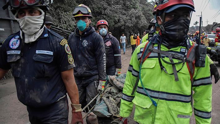 Aumenta a 62 la cifra de fallecidos tras erupción del volcán de Fuego en Guatemala