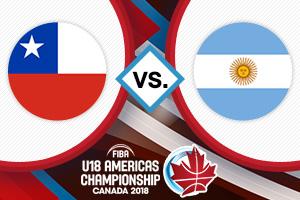 Repase la caída de Chile ante Argentina por el Premundial de básquetbol Sub 18