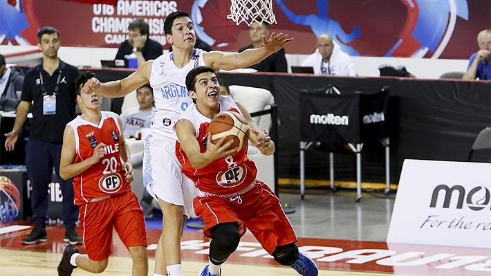 Chile no supo aprovechar su remontada y terminó cayendo ante Argentina en el Premundial Sub 18 de básquetbol