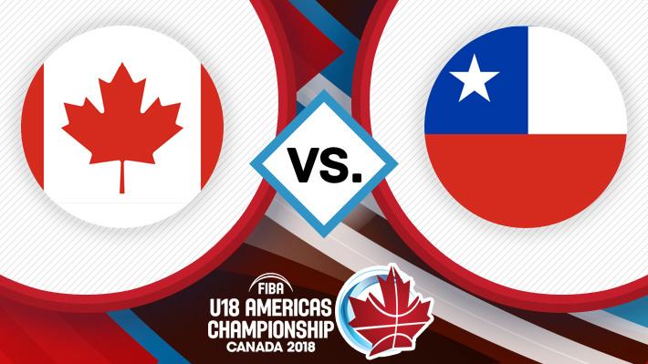 Repase la caída de Chile ante Canadá en el Premundial Sub 18 de básquetbol