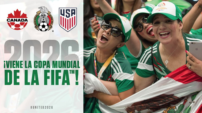 FIFA oficializa que EE.UU., Canadá y México serán las sedes del Mundial 2026