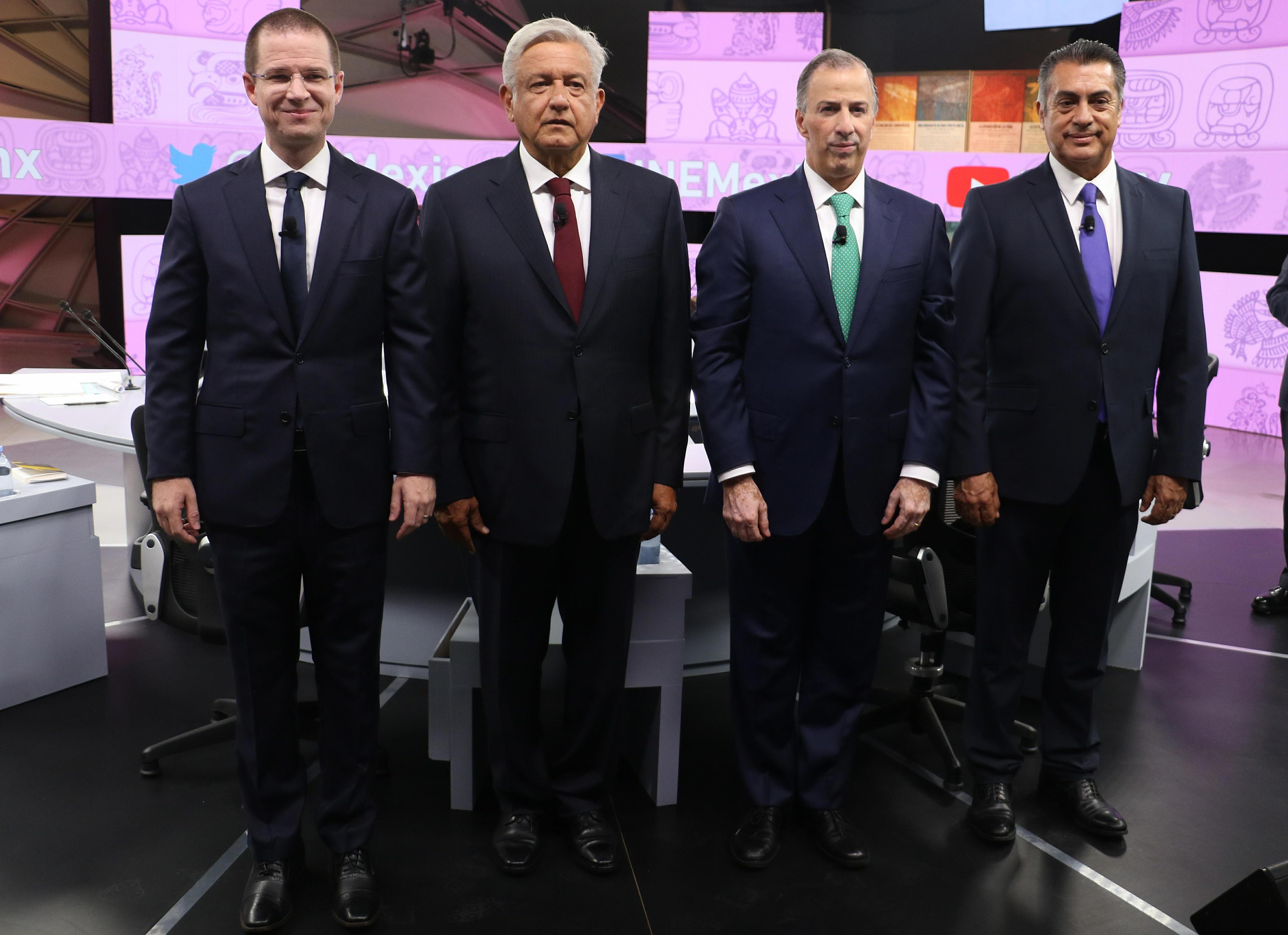 Con López Obrador como favorito: Conoce a los cuatro candidatos a la presidencia de México