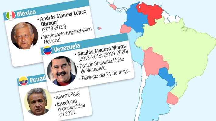 Tras triunfo de López Obrador: Cómo quedó el escenario político en Latinoamérica