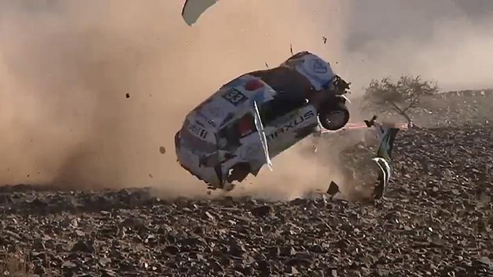 Equipo del RallyMobil sufrió impresionante volcamiento en Vicuña