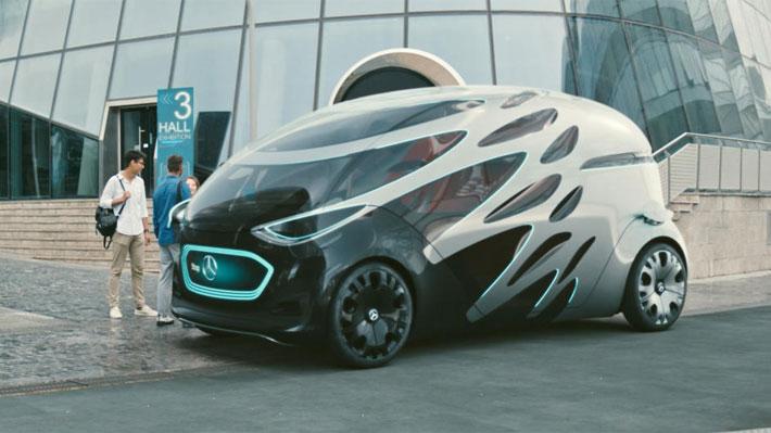 Conoce la futurista propuesta de Mercedes-Benz para el transporte autónomo