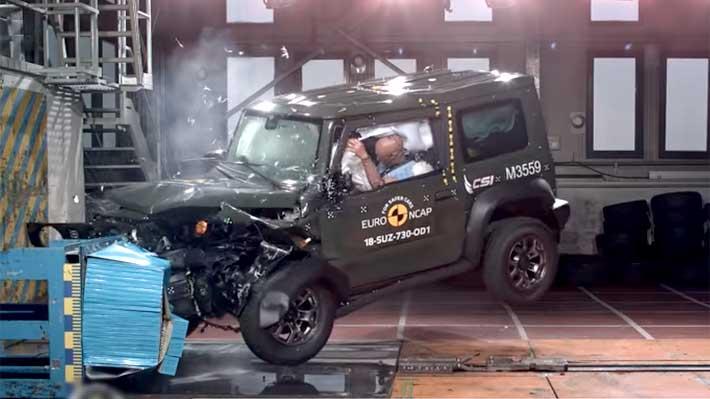 El Suzuki Jimny 2019 logra tres de cinco estrellas en pruebas europeas de seguridad