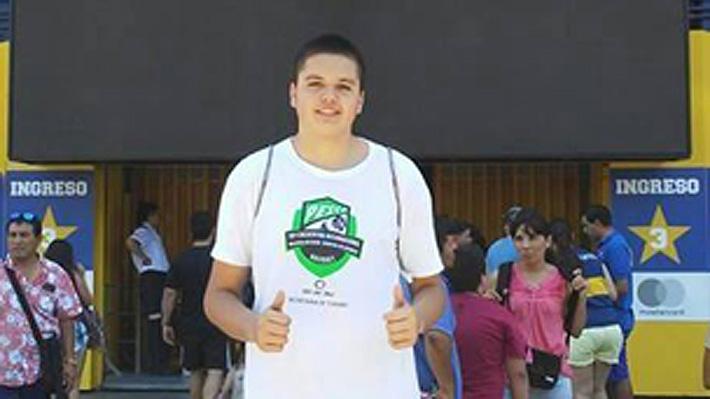El promisorio basquetbolista chileno de 15 años y 2, 05 metros de estatura que fue fichado por Boca Juniors