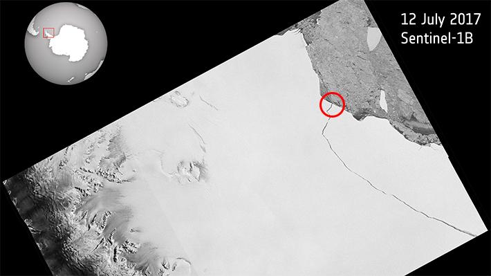 Se desprende el iceberg más grande registrado desde la península de la Antártida