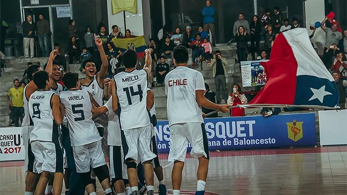 Chile Sub 17 hace historia, vence a Argentina y se consagra como campeón de un Sudamericano de básquetbol por 1ª vez