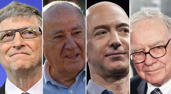 ¿Quiénes han estado en el N°1 de la riqueza mundial en los 30 años de la lista Forbes?