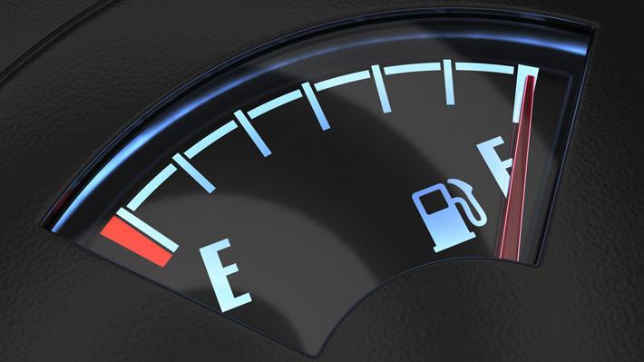 Tanque lleno gasolina