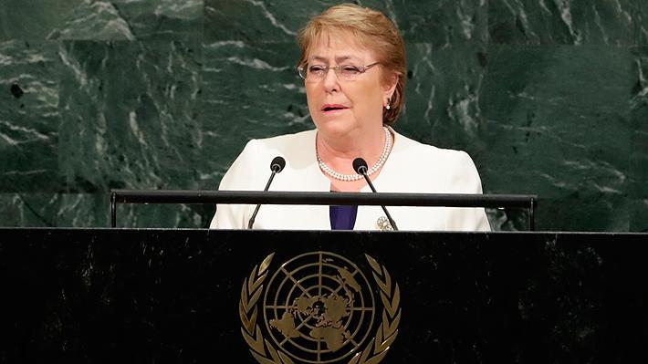 Bachelet destaca su legado medioambiental y la relevancia del cambio climático en último discurso ante la ONU