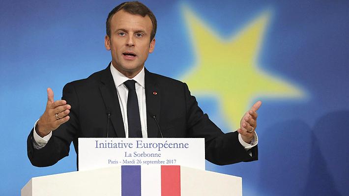 """Macron propone crear una """"fuerza común de intervención"""" europea de aquí a 2020"""