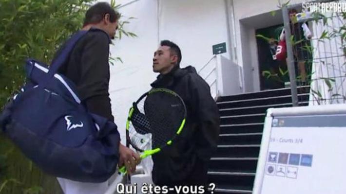 """""""¿Quién es usted?"""": El increíble impasse que vivió Rafael Nadal con un guardia en París"""