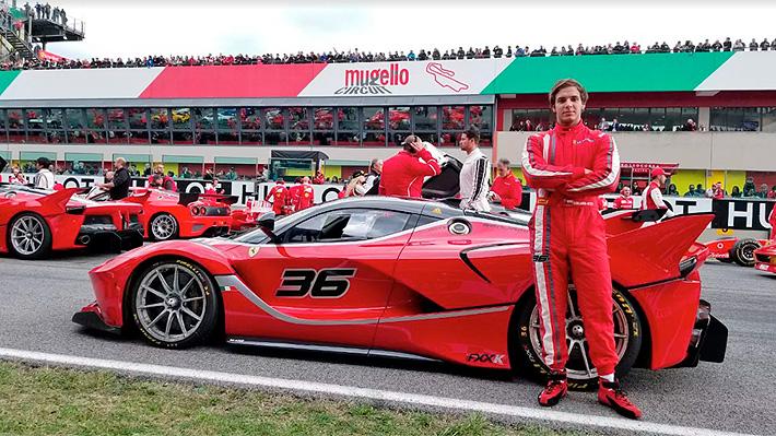 El heredero de Hites que conducirá un Ferrari a 300 km/h en la carrera preliminar de las 24 horas de Daytona