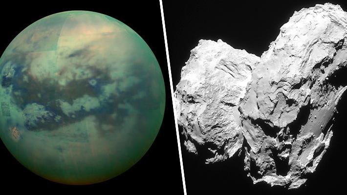La NASA reduce a dos posibilidades su próxima misión en el Sistema Solar: Una luna de Saturno o un cometa