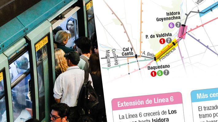 Metro de Santiago: El nuevo trazado de la Línea 7 y sus modificaciones