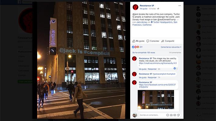 """Protestan contra Twitter por no bloquear la cuenta de Trump: acusan a su creador de """"cómplice"""""""