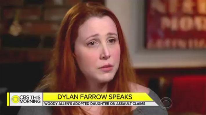 """Dylan Farrow rompe en llanto al hablar de los abusos de Woody Allen: """"Ha estado mintiendo por tanto tiempo"""""""