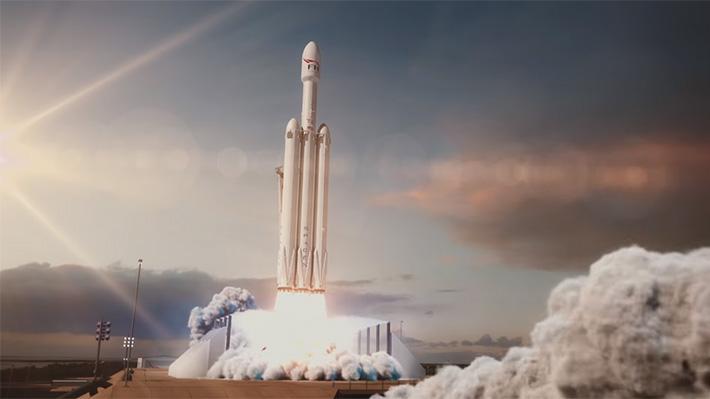 SpaceX logró aterrizar con éxito dos de los tres propulsores del Falcon Heavy y deja en incertidumbre el cohete central