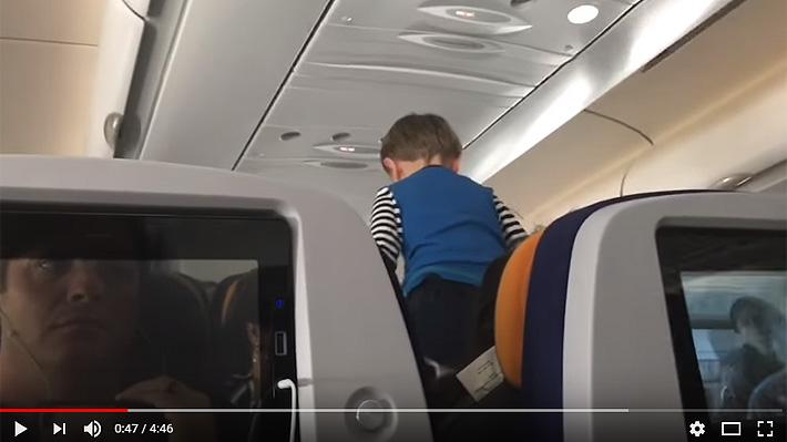 Pasajero graba rabieta de niño en un avión: Los gritos se extendieron por ocho horas