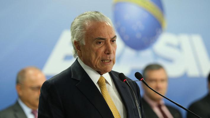 Tras intervención militar en Río de Janeiro Michel Temer anunció la creación de un Ministerio de Seguridad