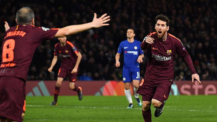 Lionel Messi fue la figura del Barcelona al anotar el empate como visitante  ante el Chelsea por la Champions 117022f238253