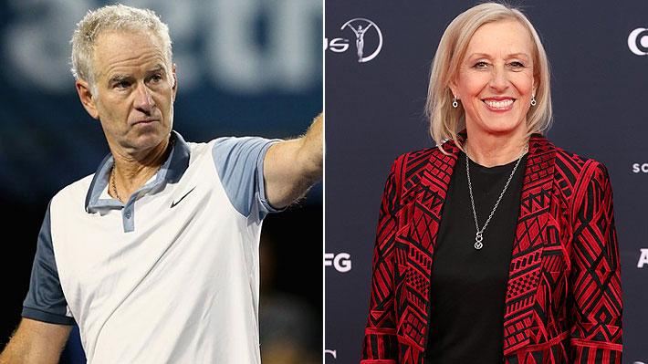 Martina Navratilova denuncia que John McEnroe gana 10 veces más que ella por comentar Wimbledon para cadena británica