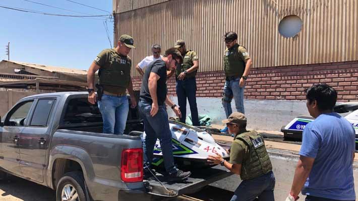 Operación Tirreno: Desbaratan banda que intentaba ingresar cocaína en motos de agua