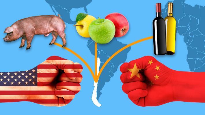 """Ante la inminente """"guerra comercial"""": ¿Hay algún producto chileno que se vería beneficiado?"""