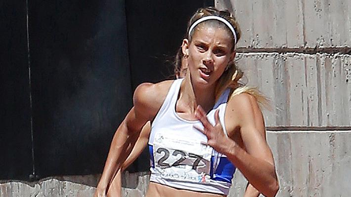 Isidora Jimenéz remató en el segundo lugar de los 100 metros planos del Grand  Prix del Orlando Guaita